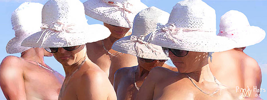 Pink Hats by Leo Malboeuf