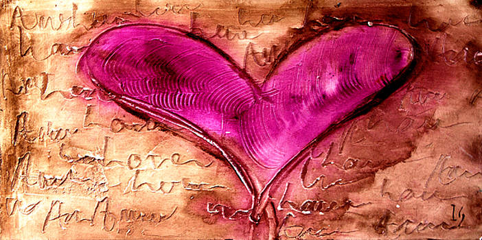 Pink Heart by Ivan Guaderrama
