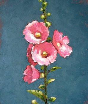 Joyce Geleynse - Pink Hollyhocks