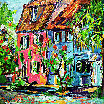 Ginette Callaway - Pink House On Chalmers Street Charleston South Carolina
