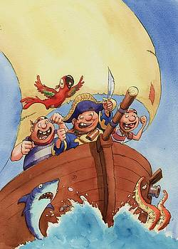 Pirate ship by Andy Catling