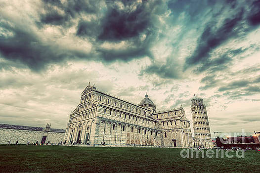 Michal Bednarek - Pisa Cathedral with the Leaning Tower of Pisa, Tuscany, Italy. Vintage