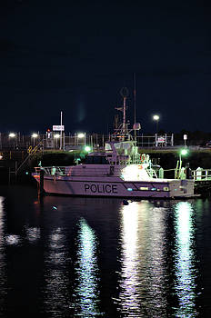 Police Boat by Cheryl Hall