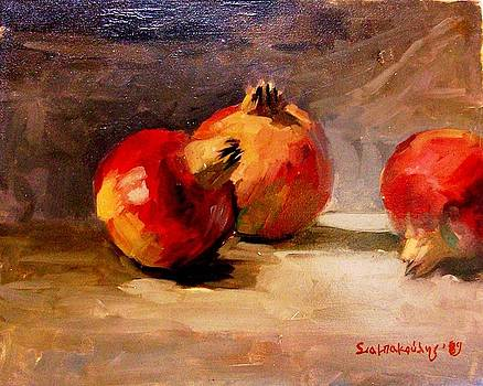Pomegranates by George Siaba