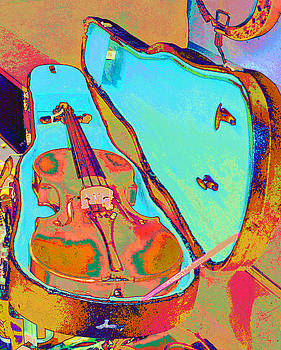 Pop Art Violin by Russ Mullen