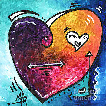 PoP of Love Heart Painting Fun Upbeat and Colorful PoP Art by Megan Duncanson by Megan Duncanson