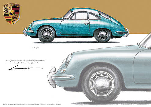Porsche 356B 1960 by Luc Cannoot