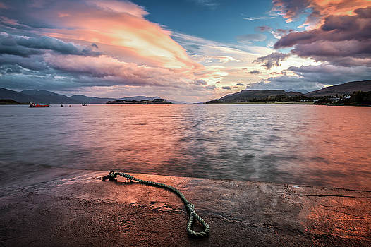Port Appin Sunrise by Alex Saunders