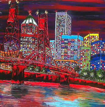 Portland City Lights 11 by Portland Art Creations