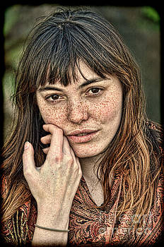 Portrait of a  Freckle Faced Model II by Jim Fitzpatrick