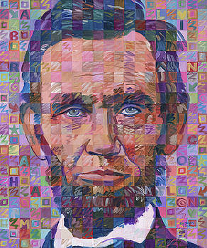 Portrait Of Abraham Lincoln by Randal Huiskens