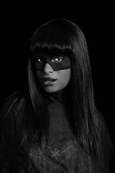 Stuart Brown - Portrait of Black woman weth mask.