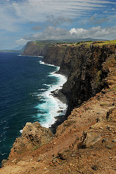 Reimar Gaertner - Portrait of north coast Molokai highest sea cliffs in the world