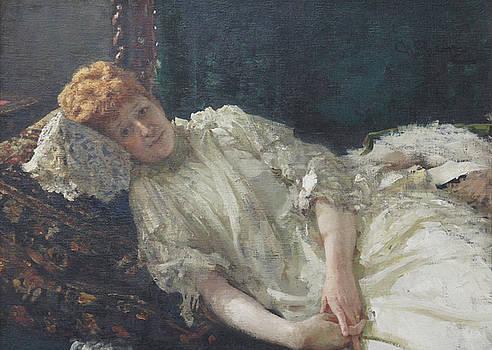 Ilya Repin - Portrait of the Pianist Louisa Mercy D
