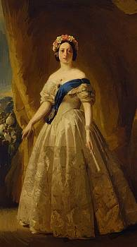 Winterhalter Franz Xaver - Portrait Of Victoria Of The United Kingdom