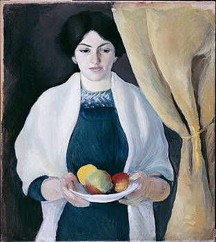 August Macke - Portrait With Apples
