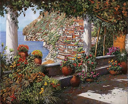 Positano dalla terrazza by Guido Borelli