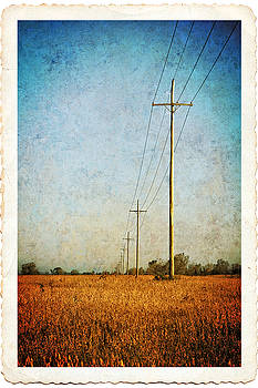 Power Lines at Sunrise by Lars Lentz