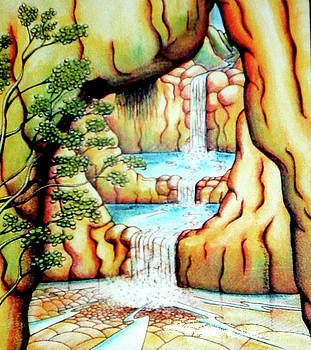 Prosperity Waterfall 1 by Barbara Stirrup