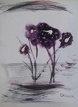 Purple Flowers by Gregory Dallum