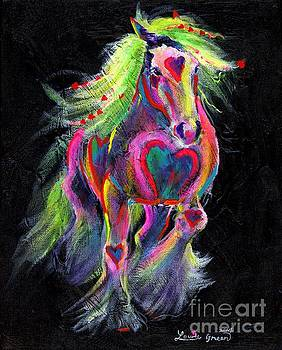 Queen Of Hearts Pony  by Louise Green