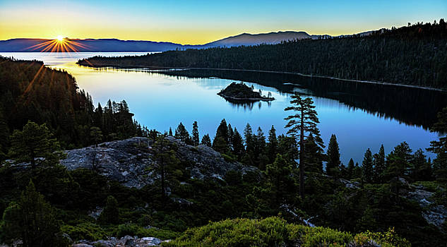 Radiant Sunrise on Emerald Bay by John Hight