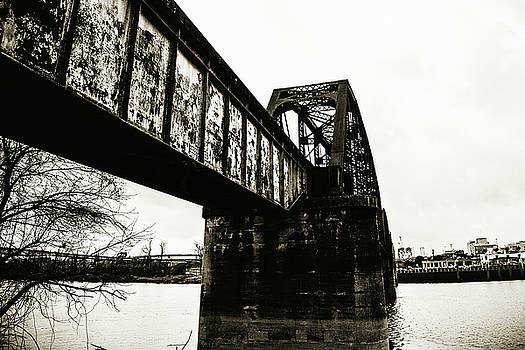 Scott Pellegrin - Railroad Over the Red River - sepia toned