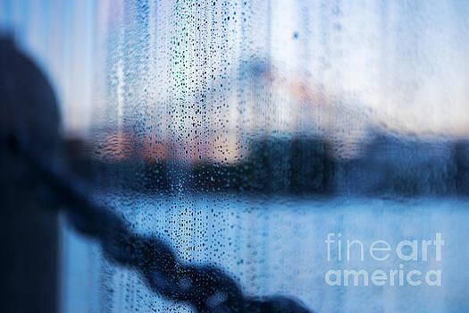 Rain drops on glass by Rob D