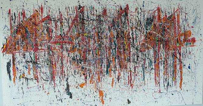 Rain On The Bridge by Thomas Mastoris