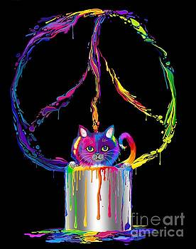 Rainbow Painted Peace by Nick Gustafson