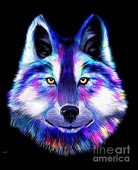Rainbow Wolf by Nick Gustafson