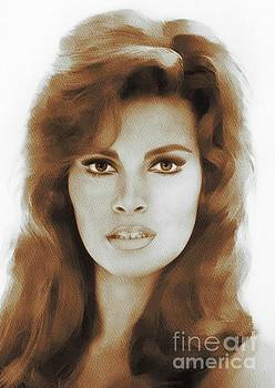 Raquel Welch, Portrait by Mary Bassett