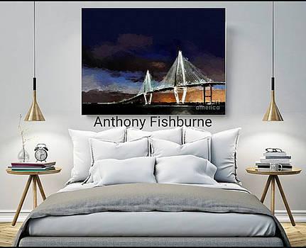 Ravenel Bridge Charleston Sc by Anthony Fishburne