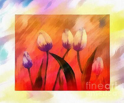 Rays of Sunshine on Tulips by Barbara Griffin
