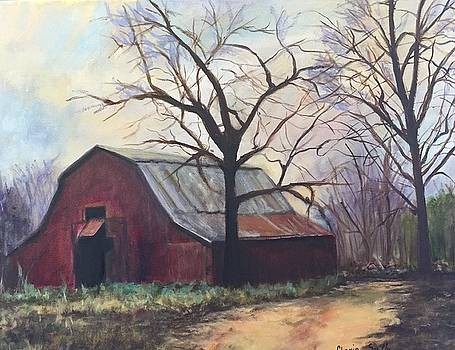Red Barn by Gloria Smith