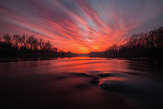 Red dusk by Davorin Mance
