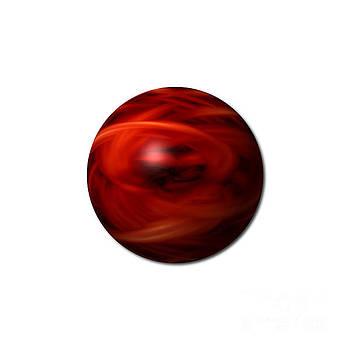 Red Fire Sphere by Henrik Lehnerer