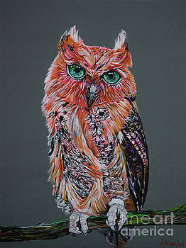 Red Owl by Silvana Abel
