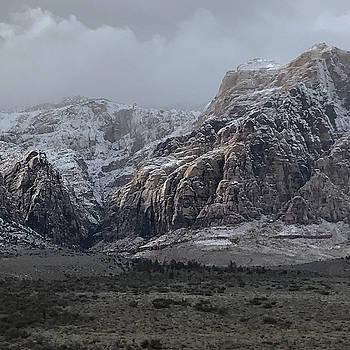 Red Rock Canyon Snow Storm by Joe White