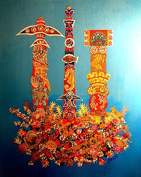 Reef Totems by Bob Craig