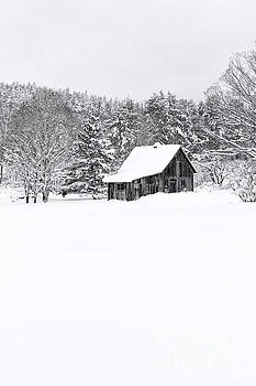Remote cabin in winter by Edward Fielding