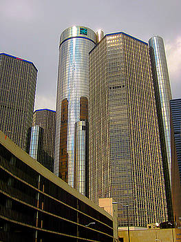 Renaissance Center in Detroit by Guy Ricketts