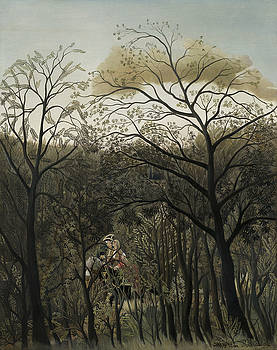 Henri Rousseau - Rendezvous In The Forest