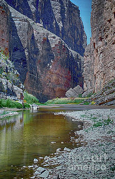 Rio Grande at Santa Elena Canyon by Judy Hall-Folde