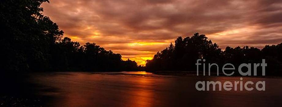River Sunset by Michael Cross