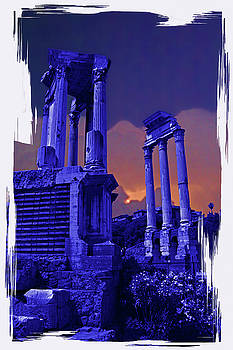 Roman Forum Sunset by Rich Walter