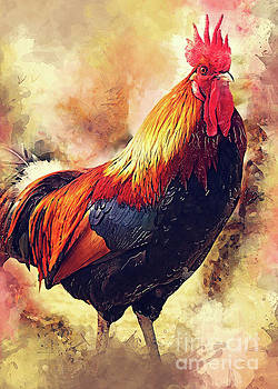 Rooster art by Justyna JBJart