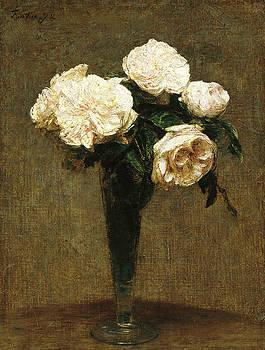 Henri Fantin-Latour - Roses in a Vase