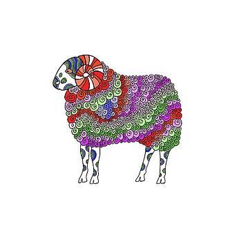 Rough Fell Sheep by Sarah Rosedahl