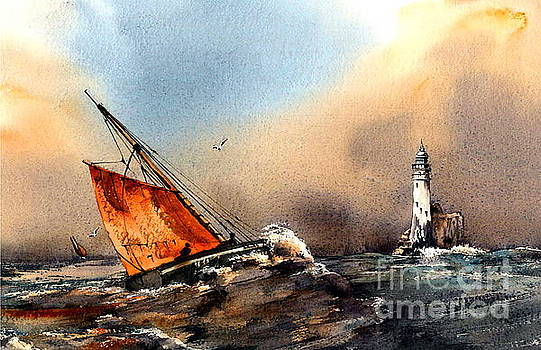Rounding the Fastnet, Cork by Val Byrne